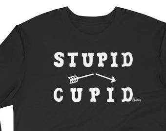 Mens Funny Womens Valentines Cupid Long Sleeve
