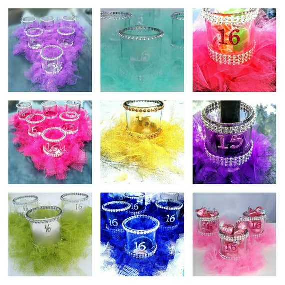 Sweet 16 Party Decorations Sweet 16 Gift Sweet 16 Party Favors Sweet 16 Centerpiece Sweet 16 Candle Holder Sweet 16 Candy Vase