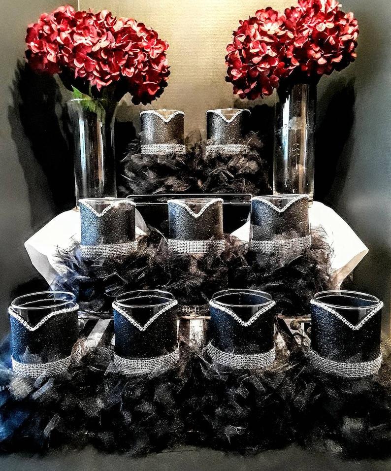 Black Wedding Centerpieces Vase Little Black Dress Vase Etsy