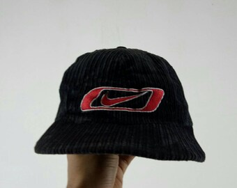 7530f55578 Rare!! NIKE corduroy caps nice design big logo one size fits all black and