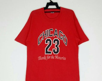 2bf8aea798d7 CHICAGO 23 T-shirt AIR JORDAN shirt thanks for the memories red colour  large size