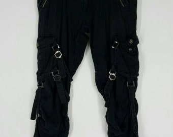 cd4f845576b84 Rare!! LOWBOX pants nice design top Japanese designer brand seditionaries  punk design black colour