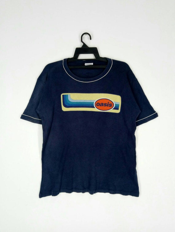 Rare!!distressed English Rock band T-shirt OASIS n