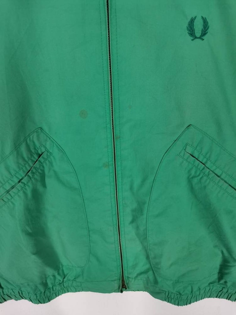 Distressed Fred Perry jacket nice design full zipper double large size Rare!
