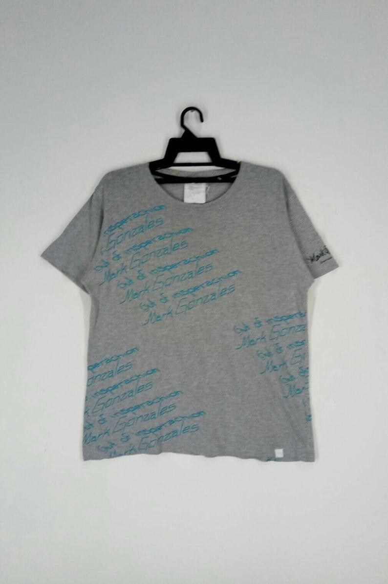 Rare! MARK GONZALES T-shirt American Professional Skateboarder nice design medium size