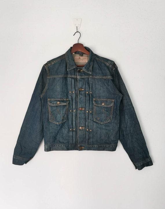 Rare!! WRANGLER Blue Bell denim jacket nice design