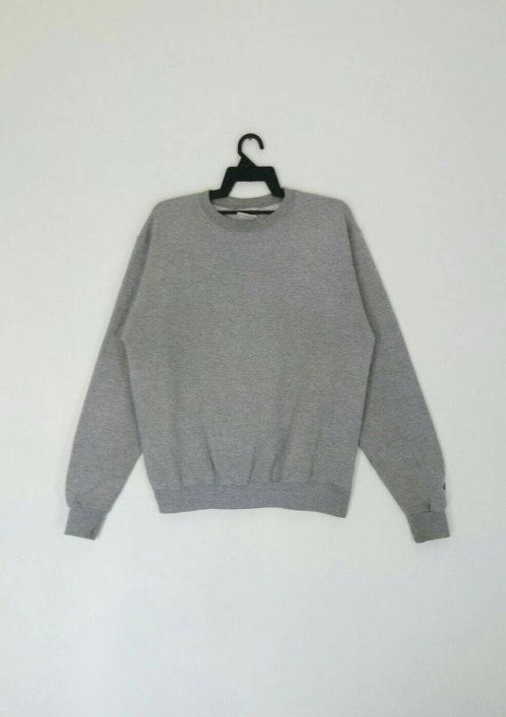Rare!! CHAMPION sweatshirt grey colour