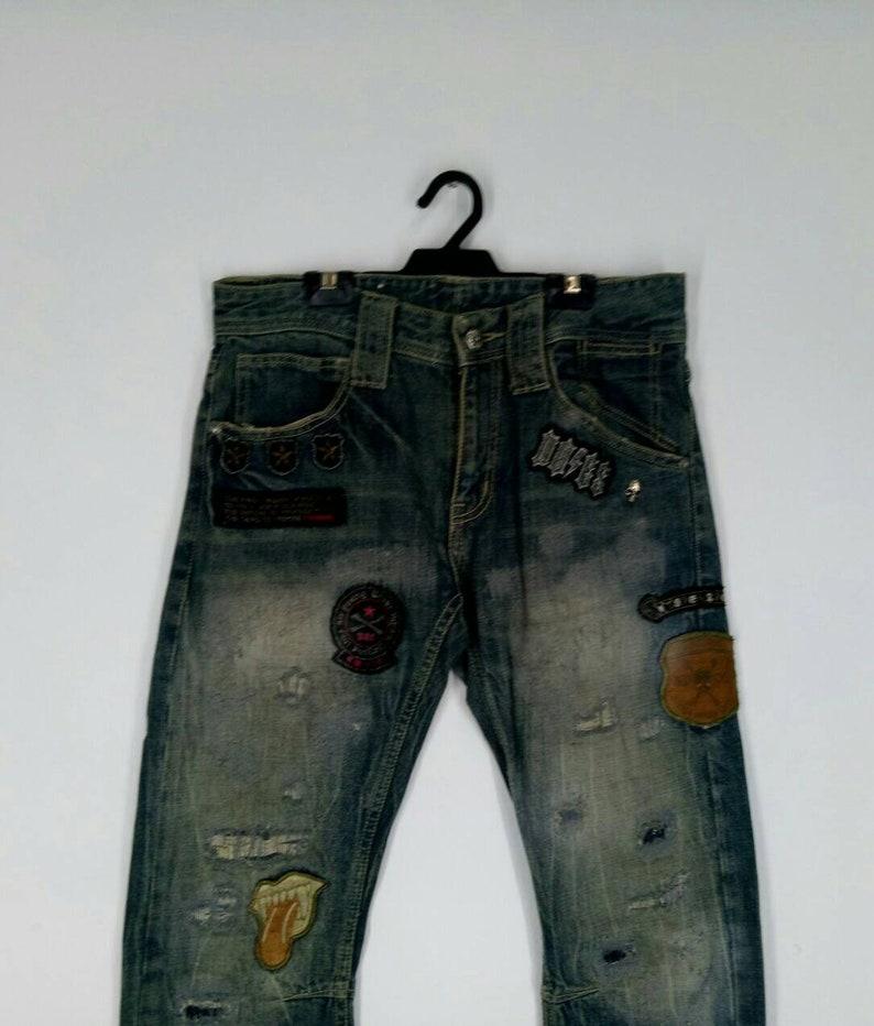 Rare! Sex Pot Tokyo Georgeous punk denim jeans top Japanese brand nice design