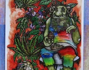"Cannabis Terpene Fantasy: Caryophyllene (8.5"" x 11"" Print)"