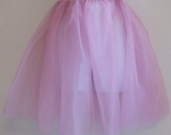 Long pink petticoat tutu - custom made in your size - tulle costume skirt