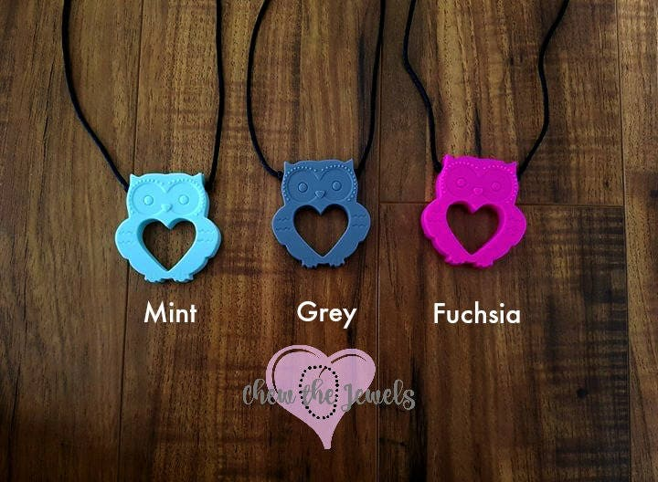 05bad4f746745 Mini Owl Pendant Necklace - Silicone Chewelry, Child, Toddler - Nail ...
