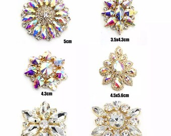 Rhinestone applique clear and clear ab different styles sew on applique  glass crystals 1pcs bag ea4db44b5286