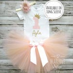 Princess 1st Birthday Girl Outfit | 1st Birthday Outfit | First Birthday | Pink and Gold Birthday | Cake Smash Outfit | 2nd Birthday | Baby