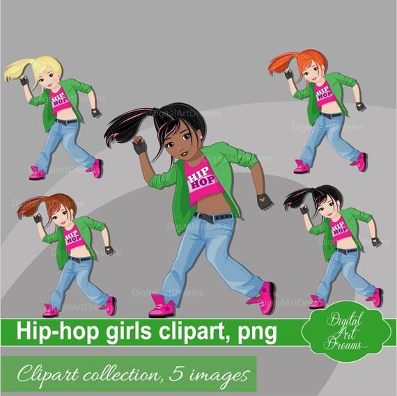 Hip Hop Dancer Download Dancing Clipart Girl Png Hip Hop Etsy
