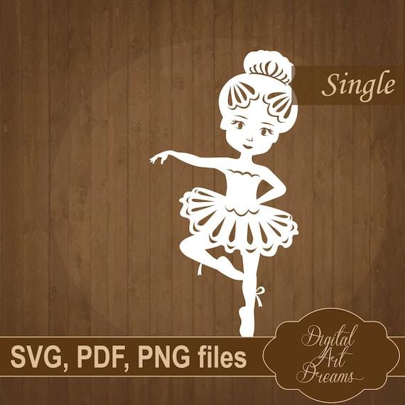 ballerina girl svg paper cut template pdf baby papercut etsy