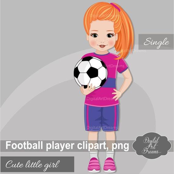 Fussball Madchen Clipart Sport Grafiken Niedlichen Charakter Schule Illustration Europaischen Fussball Png Party Printables Digitale Scrapbook Png
