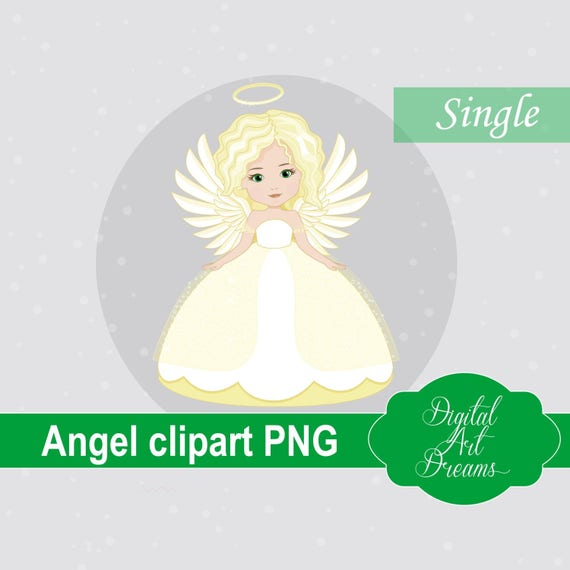 Christmas Angel Clipart.Angel Clipart Png Christmas Angel Blonde Girl Holiday Graphics Illustration Instant Download Cute Character Communion Angels Digital
