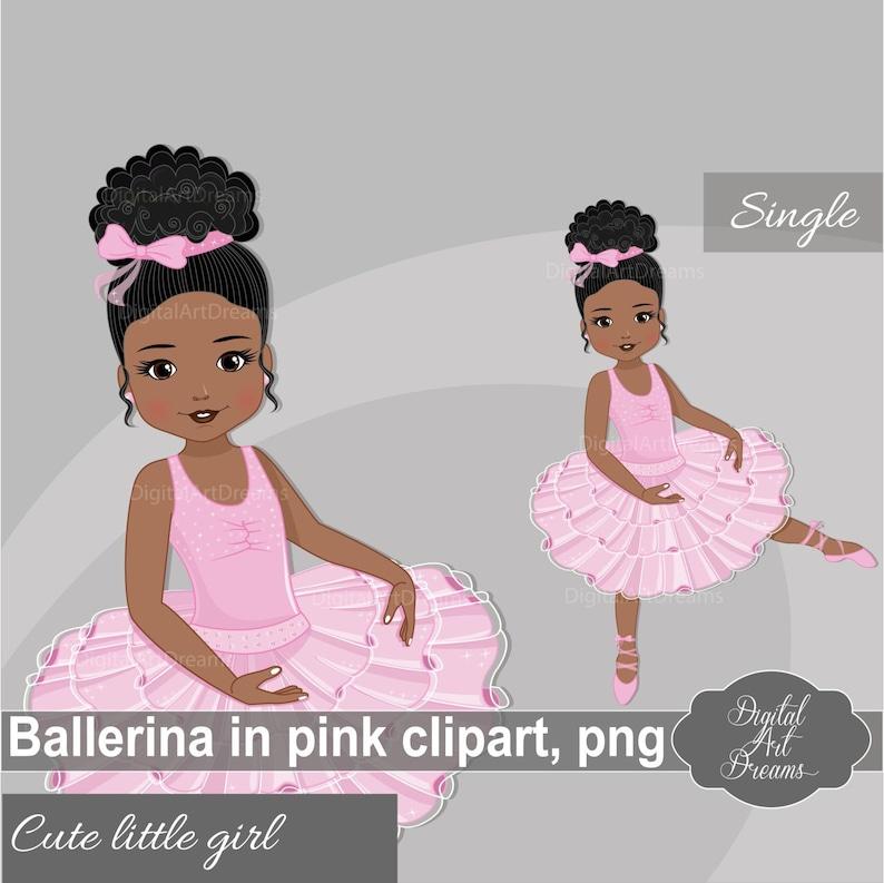 612fa3b62 Dancing Ballerina Clipart Cute Ballet Graphics African | Etsy