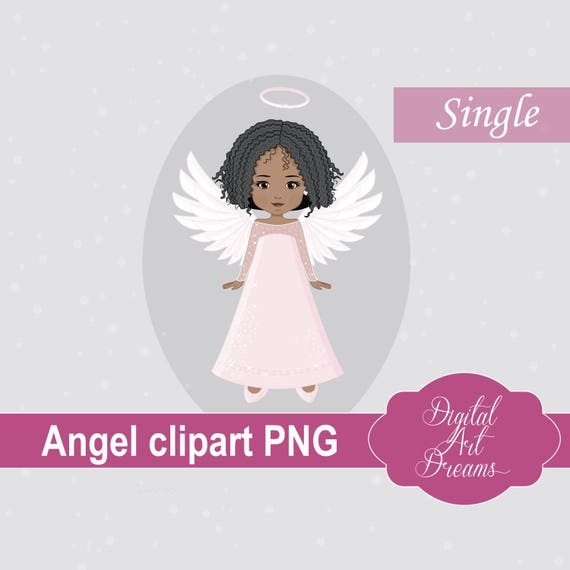Weihnachten Engel Clip Art Png African American Girl Urlaub Etsy