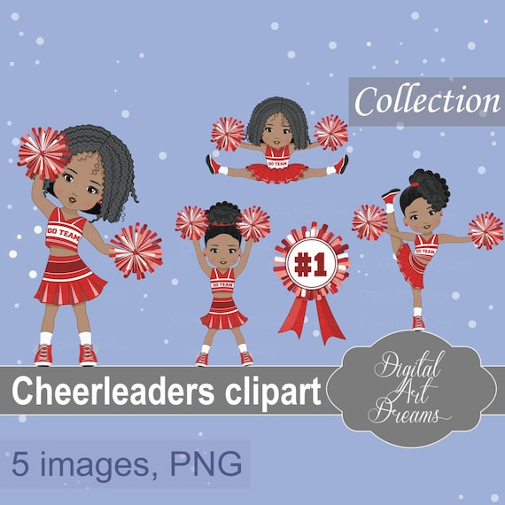 graphic about Free Printable Cheerleading Clipart identified as Cheerleaders Personnel Clipart, Athletics Graphics, African American, Crimson Uniform, Soccer, Business, Lovely Ladies, Higher education People, Pom Pom, Artwork