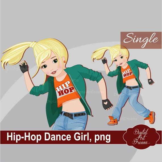 Hip Hop Clipart Dance Clipart Little Girl Clipart Hip Hop Etsy