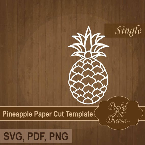 Pineapple Template | Pineapple Svg Paper Cut Template Pdf Baby Papercut Cuttable Etsy
