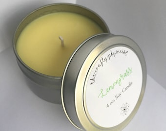Lemongrass 4oz Soy Candle -- DISCOUNT UNDERFILLED