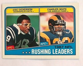 Vintage 1988 Topps Football  217 Eric Dickerson Indianapolis Colts Charles  White NM MT 42710cc5c