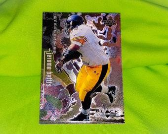 aa187bfc6 Vintage NFL Jerome Bettis Pittsburgh Steelers 1998 U.D. Black Diamond Mnt