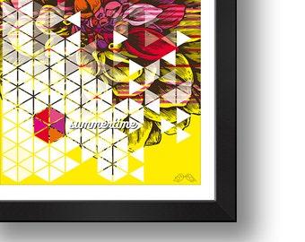 SUMMERTIME   Digital print   Design art   Illustration  Wall art