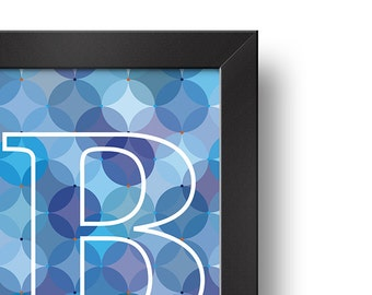 B - big BLUE | Downloadable print | Printable design | Digital print | Typography | Design art