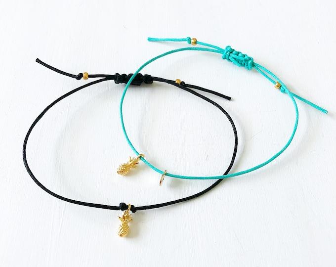 Pineapple Bracelet, Pineapple Gifts, Pineapple Jewelry, Personalized Bracelet, Customized Bracelet, Pineapple Bracelets for Women, Pineapple
