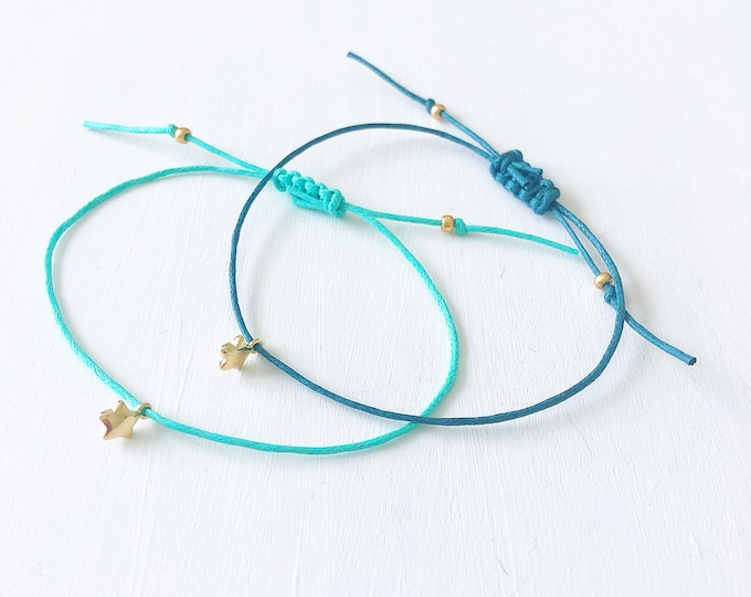 Star Bracelet, Distance Bracelets, Best Friend Bracelet, Bracelets for Women, Gold Charm Bracelet, Beachy Jewelry