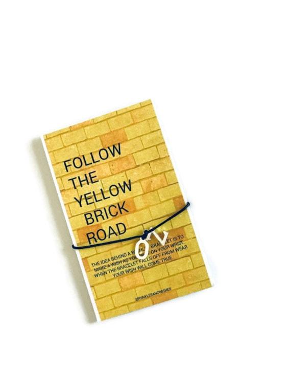 Wizard of Oz Wish Bracelet, Wizard of Oz Gifts, Follow Yellow Brick Road Bracelet, 5 Dollar Gifts, Wish Bracelet, Friendship Bracelet