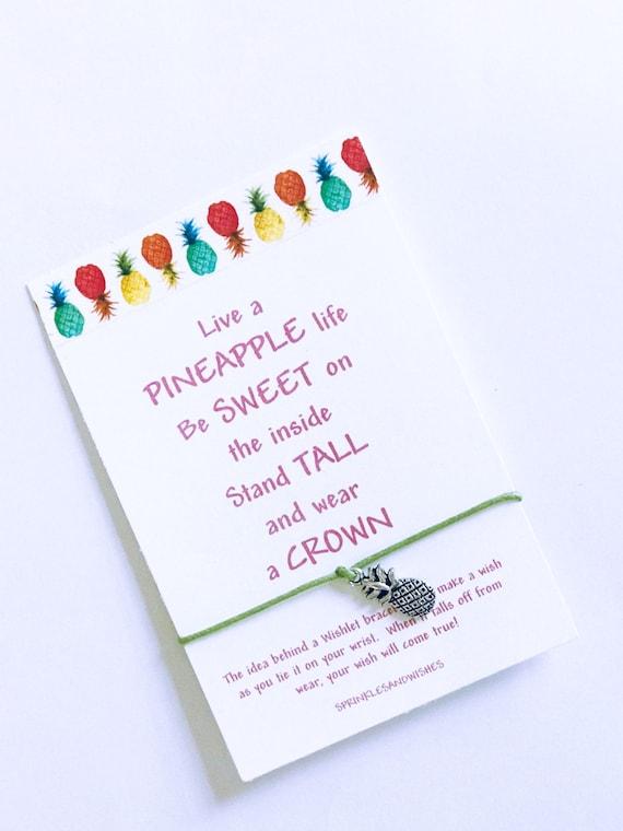 Wish Bracelet Pregnancy Infertility Pineapple Bracelet Infertility Wish Bracelet Friendship Bracelet Pineapple Jewelry Gift