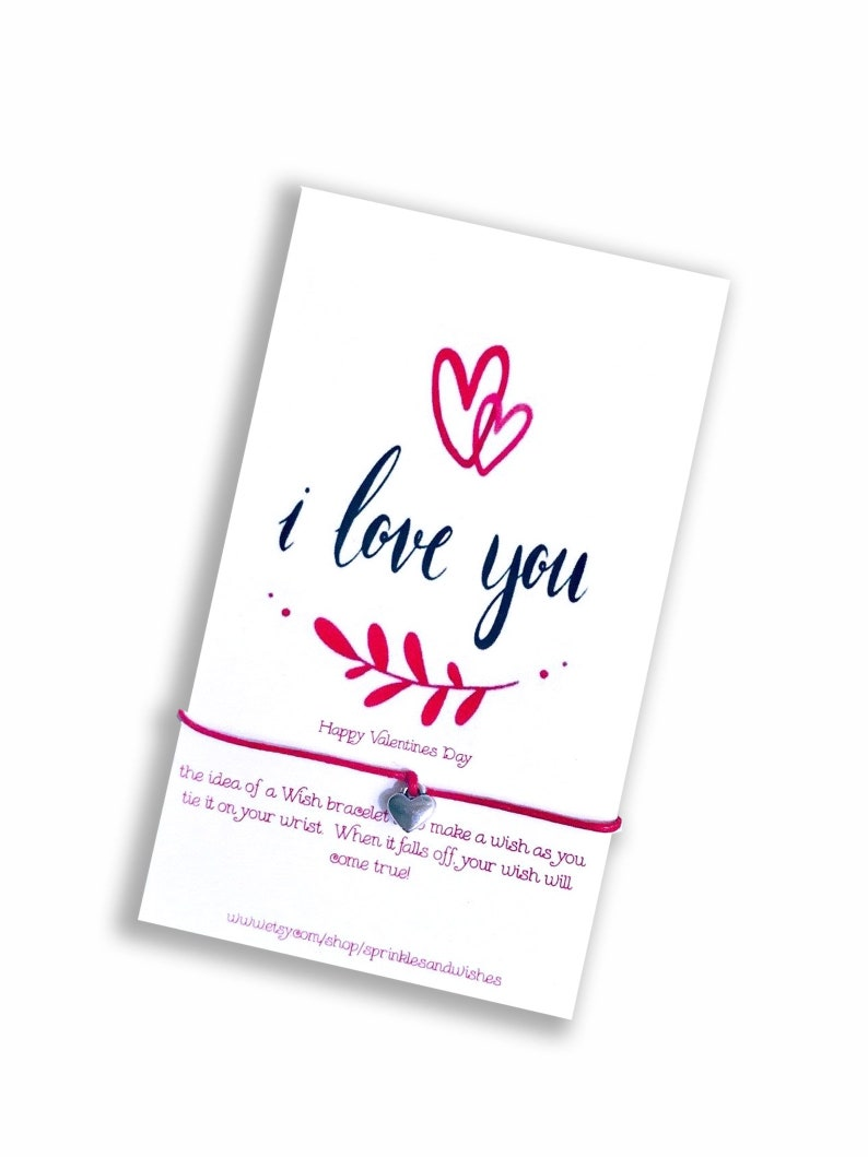 I Love You Card Love Wish Bracelet I Love You Gifts for Her image 0