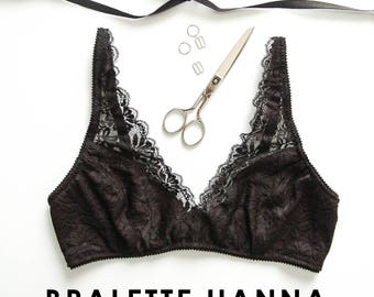 ENGLISH PDF Digital Sewing Pattern, Hanna Bralette Lingerie Sewing Pattern