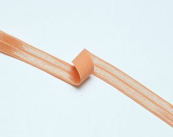 1m of fold over elastic (16 mm) FOE in Peach