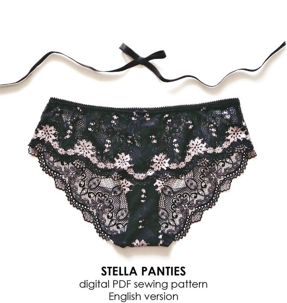 1ea91122f0 ENGLISH PDF Digital Sewing Pattern stella Panties Lingerie