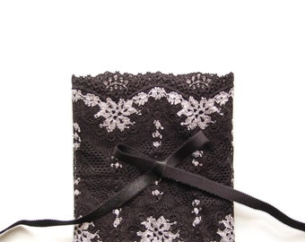 DIY Bramaking Lingerie Kit in Black, Lingerie Sewing Kit with Stretch Lace