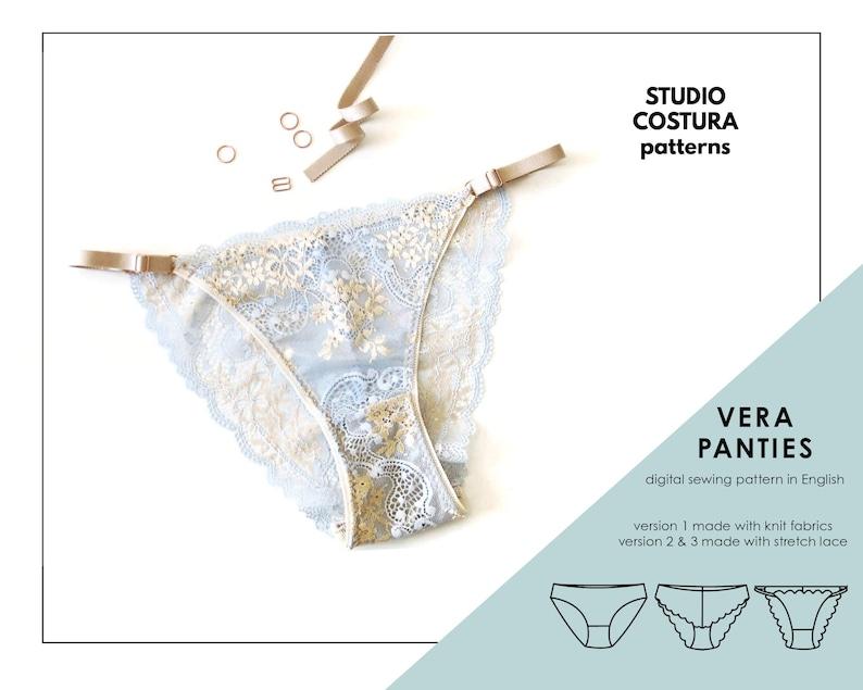 ENGLISH PDF Digital Sewing Pattern Vera panties Lingerie image 1