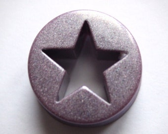 Ear ECARTEUR  ear PLUG resin purple purple mica powder star 11 13 15 17 19 21 mm tunnel tunnel weight squinates hollow PLG0075