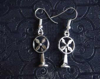 FAN earrings silver BOA063