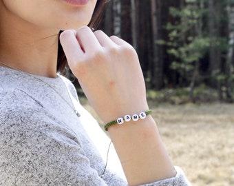 Macrame Node ID White Bracelet - TinyLittlePiecesShop