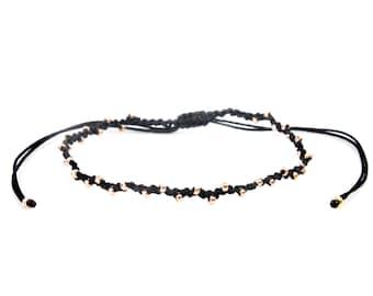 Ultra Slim Zigzag-Macrame Rose Gold Bracelet/Anklet - TinyLittlePiecesShop