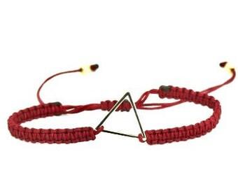 Macrame Triangle Gold Bracelet/Anklet - TinyLittlePiecesShop