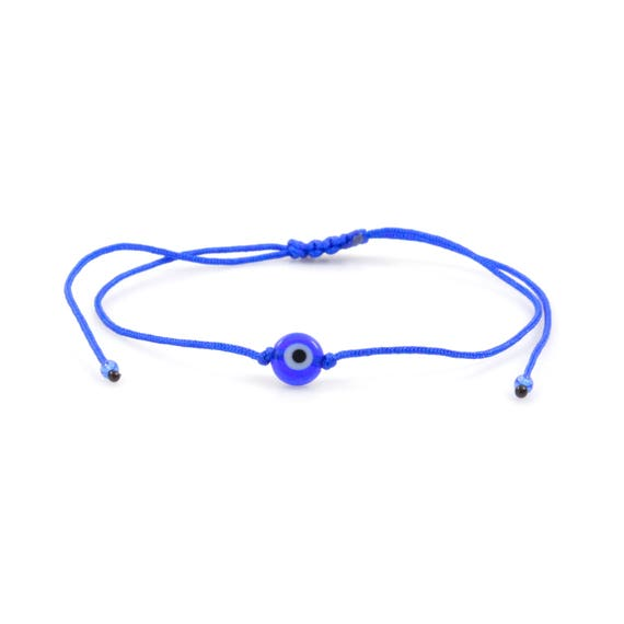 Cord Nacre Pearl Evil Eye BraceletAnklet TinyLittlePiecesShop