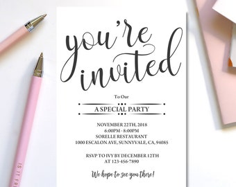 invitation template etsy
