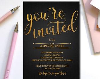 Invitation Template Etsy
