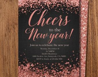 new years invite etsy